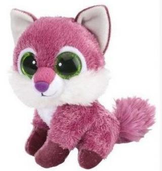 Plyš očka liška růžová [HRAČKA]
